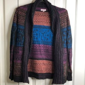 3/$15 Silence and noise size XS patterned cardigan